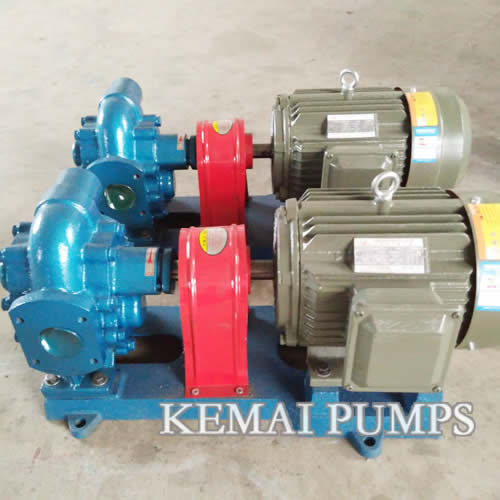 2 inch gear oil pump with motor on a base