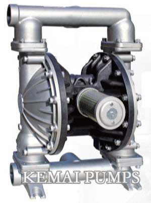 2 inch air operated diaphragm pump stainless steel materials