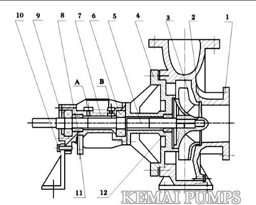 Hot oil pump structure