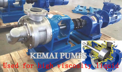 Internal gear pump for high viscosity oil transfer