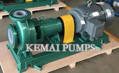 plastic lined chemical pumps