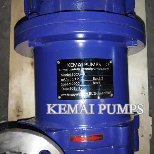 SSMagnetic Drive Pump CQ series China Kemai pumps